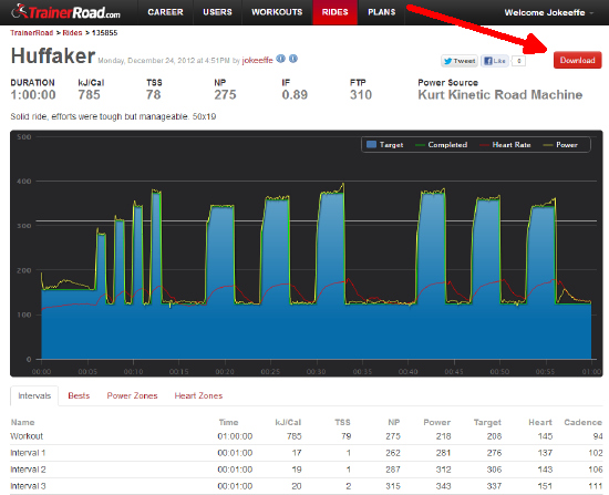 TrainerRoad screenshot